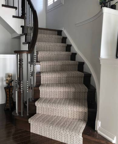 Carpet on stairway | Markville Carpet & Flooring