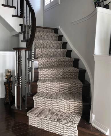 Carpet on stairway | Markville Carpet & Flooring