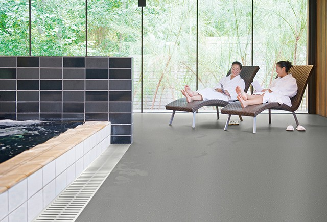Safety flooring in a spa | Markville Carpet & Flooring