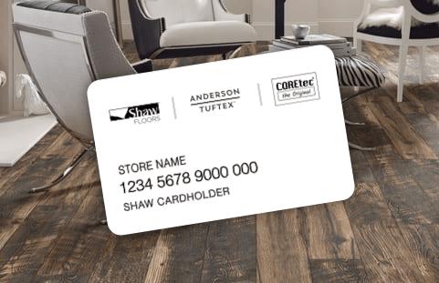 Shaw financing credit card | Markville Carpet & Flooring