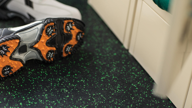 Replay rubber flooring in training area | Markville Carpet & Flooring