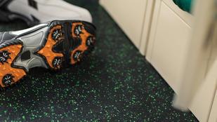 Tarkett sports multi functional flooring soccer boots | Markville Carpet & Flooring