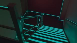 Glowing stairway at the dark | Markville Carpet & Flooring