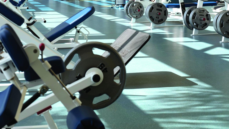 Triumph sport flooring in gym | Markville Carpet & Flooring