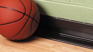 Tarkett basketball flooring with basketball | Markville Carpet & Flooring