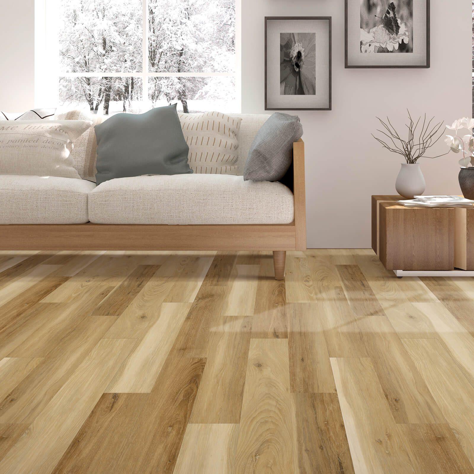 Sofa on laminate floor | Markville Carpet & Flooring