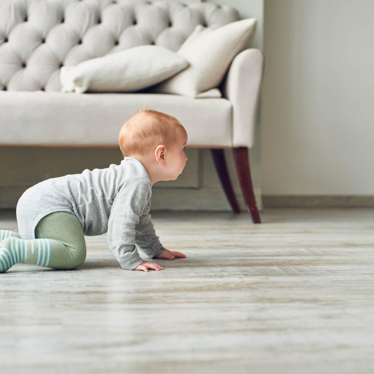 Baby on Vinyl floor   Markville Carpet & Flooring