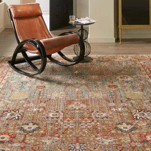 Armchair on area rug | Markville Carpet & Flooring