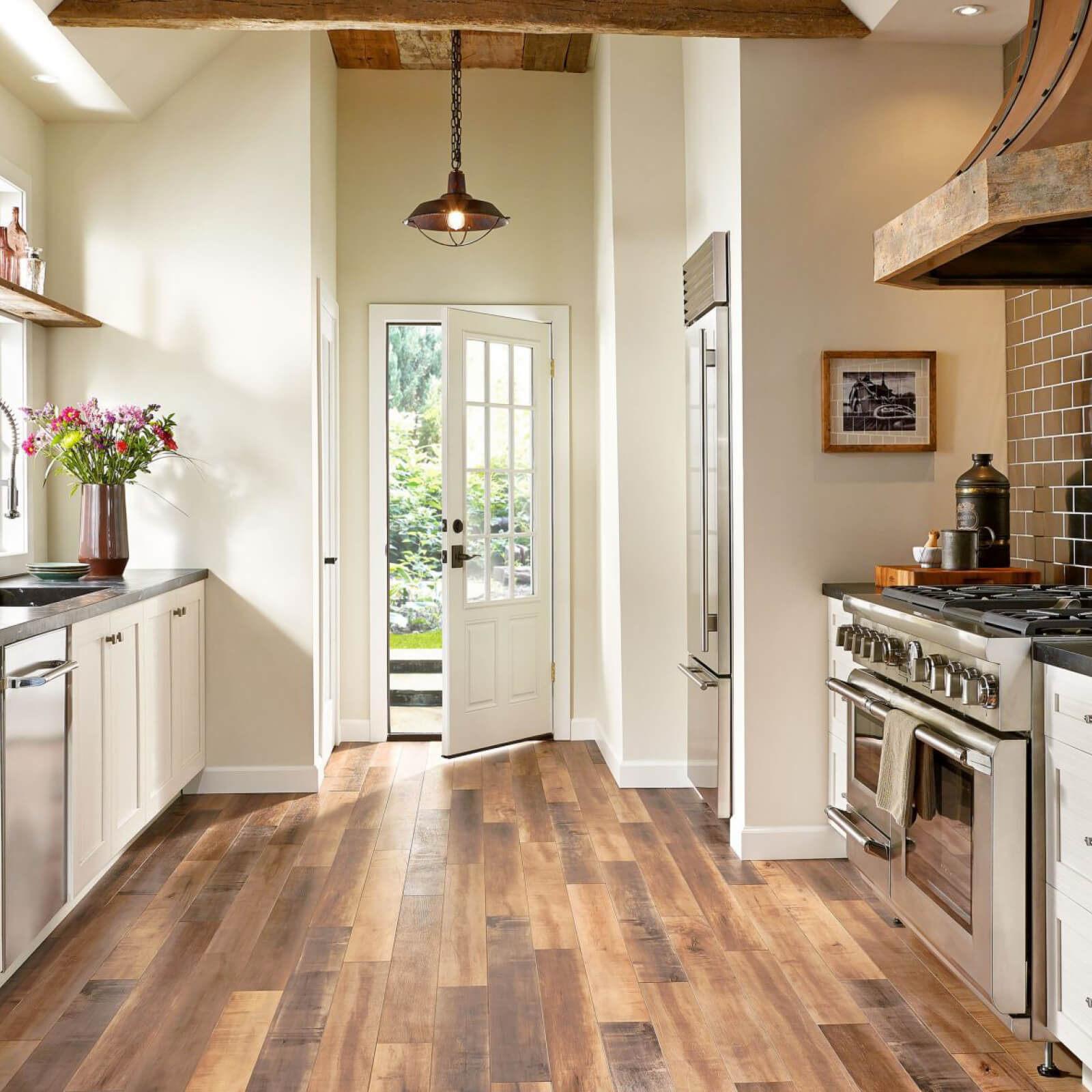 Laminate flooring in kitchen | Markville Carpet & Flooring